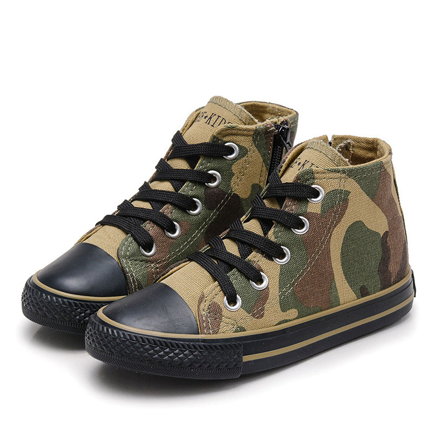 Kids Shoes for Girls Children Casual Shoe Out Wear Anti Slip Camouflage Baby Boys Canvas Shoes School Wear for Toddlers