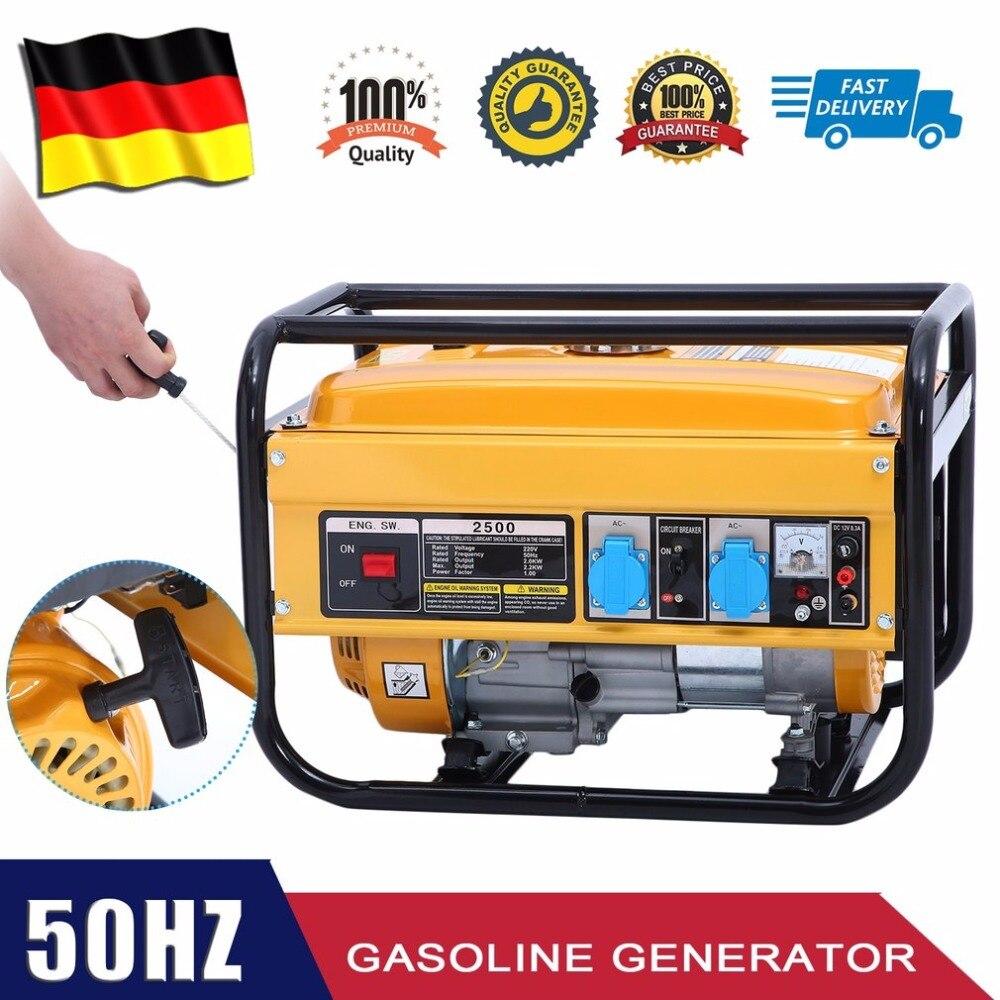 Новый WX 2500A 2KW мощность генератор 2800 Вт бензиновый прочный аварийного питание электрическое оборудование ЕС Plug