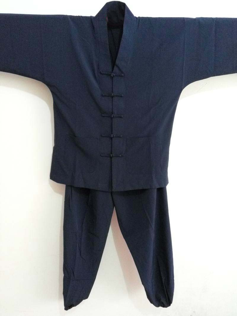 High Quality Taoist Robe Taoists Clothing Monk Shirt + Pants Tai Chi Clothing Performance Clothing Dark Blue Buddhist Tops Suits