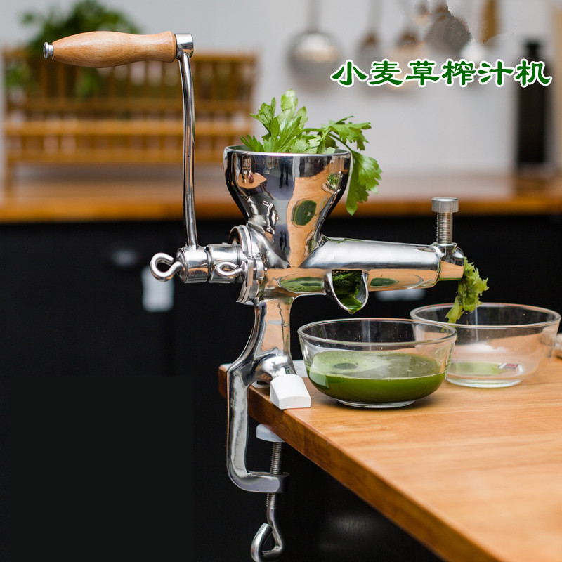 Stainless steel juicer manual hand powered wheat grass juice extractor fruit vegetable squeezer home use hand wheat grass juicer extractor cucumber tomato potato juice squeezer