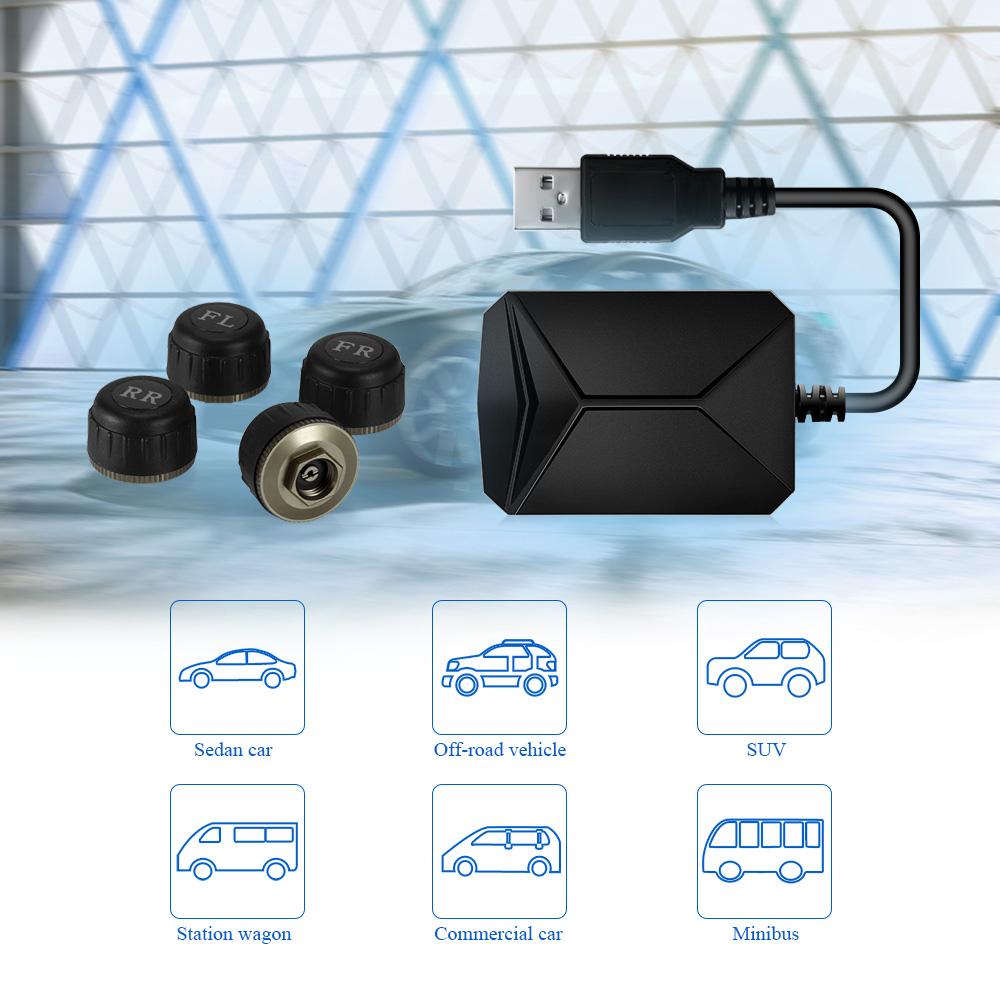 HTB1hRzmc6rguuRjy0Feq6xcbFXae - USB Android TPMS Car Tire Pressure Monitor with 4 External Sensors 116 psi Monitoring Alarm System 5V Wireless Transmission TPMS
