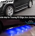 Para VW Touareg/borde/RX/JCUV/viaje corriendo de lado paso nerf bar con luz LED ¡muy popular en guaranteee calidad