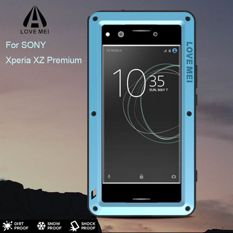 Xperia Z5 3Proof Case LOVEMEI Powerful Metal Case for SONY Xperia XZ Primium Luxury Aluminum Dirt Waterproof Shockproof Cover