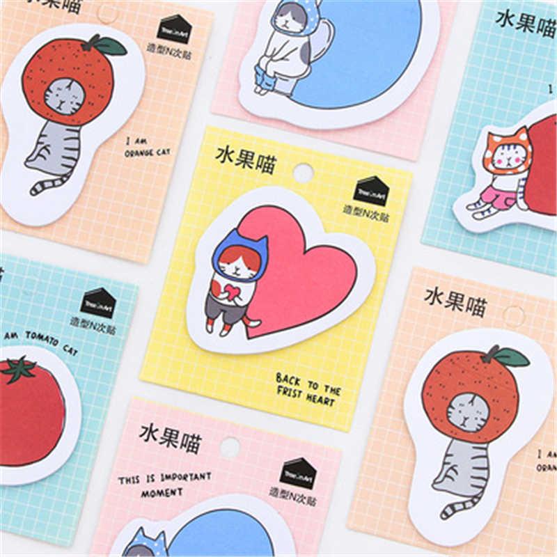 DL כתיבה קוריאנית יום נוחות להדביק מייאו פירות טרי, היפה cartoon מדבקת נייר מכתבים של בעלי החיים קטן עבור o N זמן