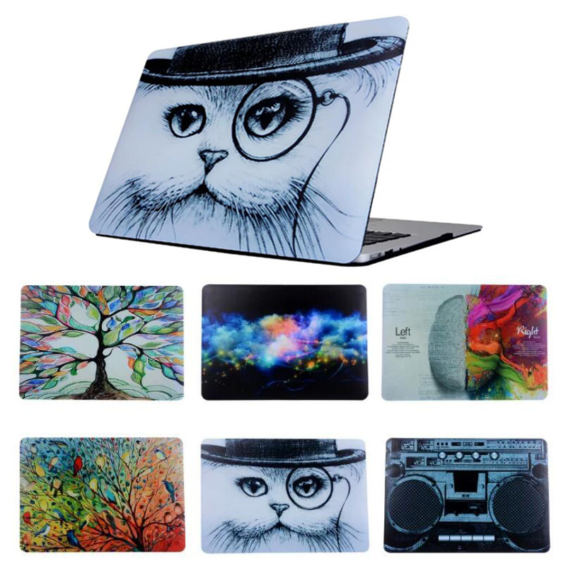For New Macbook Pro 13 15 Touch Bar A1706/A1708/A1707 Retro Cat Oil Painting Cartoon Protective Hard Cover Case