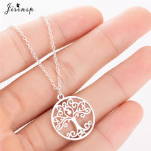Jisensp Flower Of Life Mandala Pendant Sacred Geometry Stainless Steel Spiritual Necklace Women Ancient Egyptian Jewelry collare(China)
