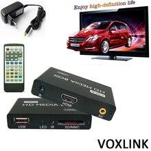 50PCS VOXLINK 1080P Mini HDD Media Player MKV/H.264/RMVB SD/USB/SDHC/MMC HDD-HDMI HDD Multimedia Player_DHL