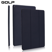 Flip Case for iPad 12.9 2018 cover, GOLP Full Protective PU Leather Magnetic Smart Cover Pro inch case