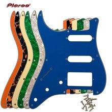 Качественные гитарные части для нас с левшей 57 '8 винтовых отверстий гитара Stratocaster Pickguard с PAF Humbucker HSS Scratch Plate