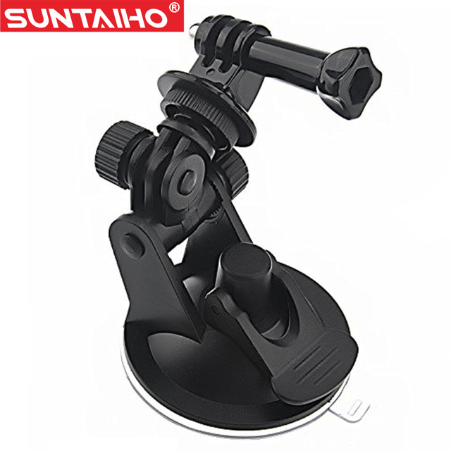 Action Camera Gopro Accessories Car <font><b>Suction</b></font> <font><b>Cup</b></font> <font><b>Mount</b></font> Holder <font><b>Tripod</b></font> <font><b>Mount</b></font> Adapter For SJ4000 GoPro Hero 3/4 Xiaomi Yi Sport Cam