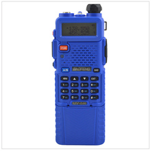 baofeng UV-5R radio dualband 5R Blue walkie talkie 136-174/400-520MHz two way radio w/ free earpiece and 3800mAh Li-ion battery