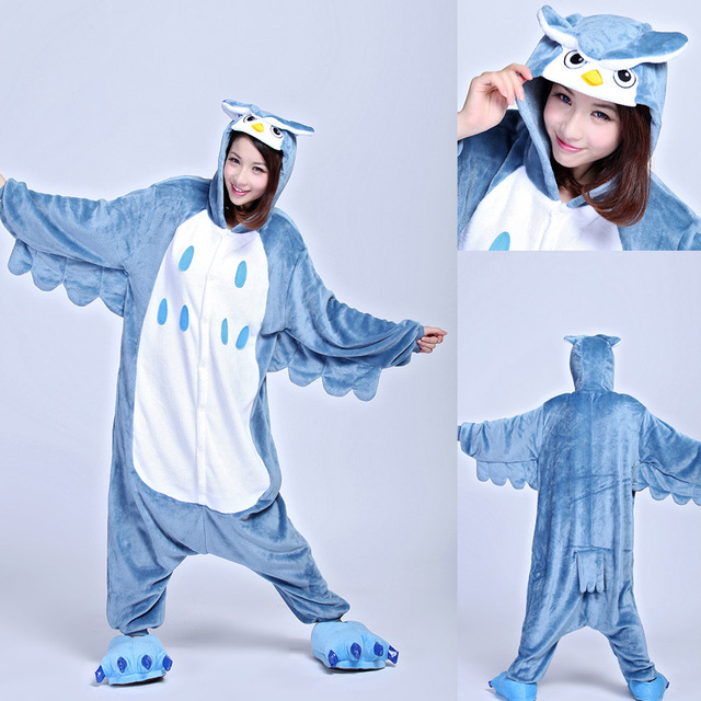 Women Men Onesies Animal Pajamas Adult Kigurumi Pajamas Owl Cartoon  Sleepwear Anime Cosplay Costume ea642764abc7a
