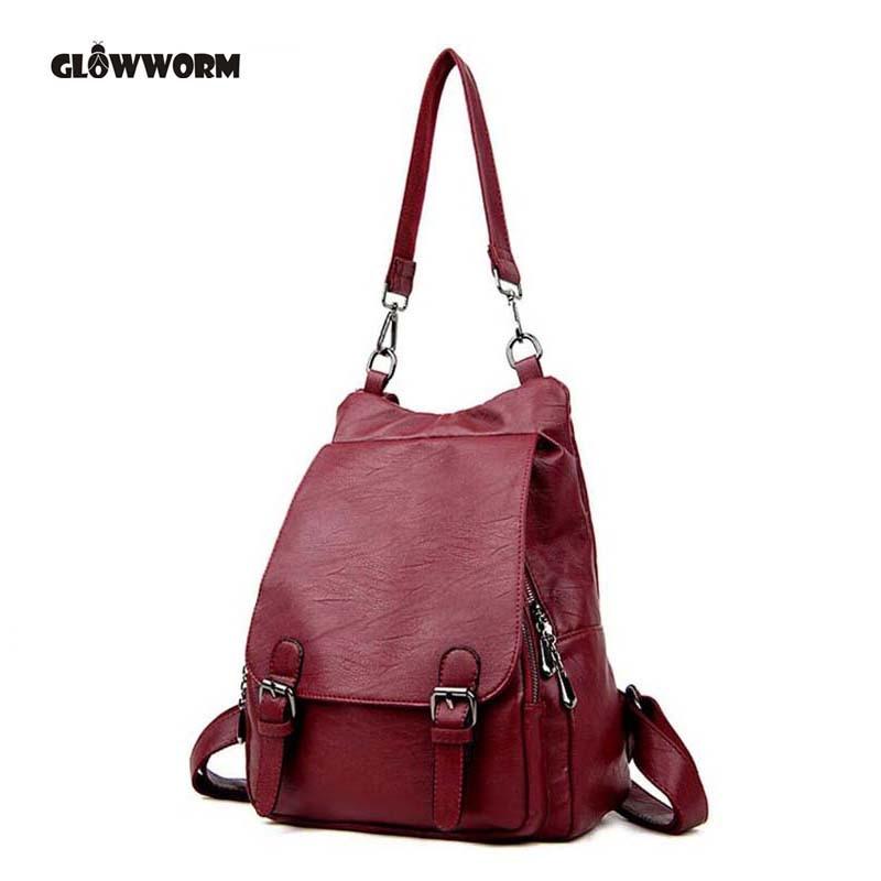 a8718d98f6e6 Купить Женские рюкзаки из натуральной кожи Брендовые женские модные рюкзаки  для подростков девочек школьные сумки из натуральной кожи дорожные с.