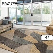 Winlife Европейский геометрический Стиль ковры Гостиная/Салон/Спальня ковры, большие коврики украшения ковры Стирка ковров