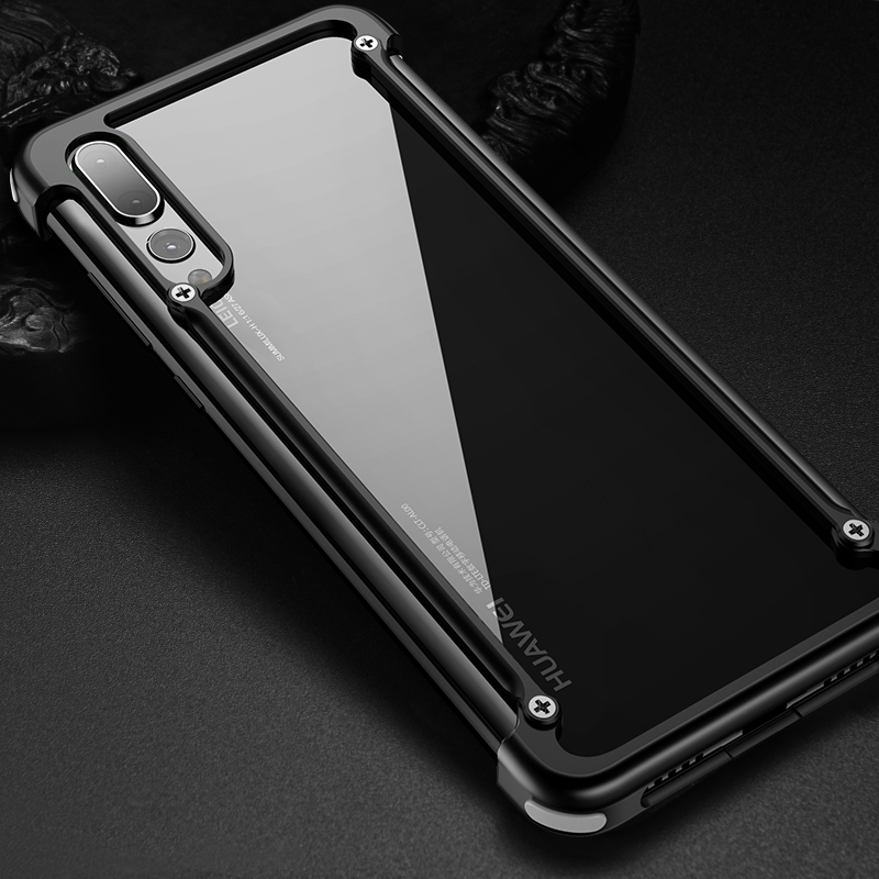 online retailer a21bc 20206 US $15.99 |OATSBASF Airbag Metal Case For Huawei P20 and Huawei P20 Pro  Case Personality Shell Metal Bumper cover with Gift Glass Film-in Phone  Bumper ...