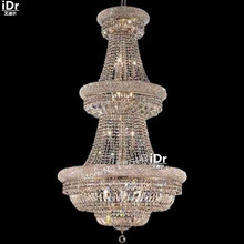gold Chandeliers lamp luxury meeting room corridor lights crystal lamps Hotel lights 75cm W x 142cm H