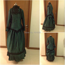1860S Victorian Corset Gothic/Civil War Southern Belle Ball Gown Dress Halloween dresses  CUSTOM MADE XS-011