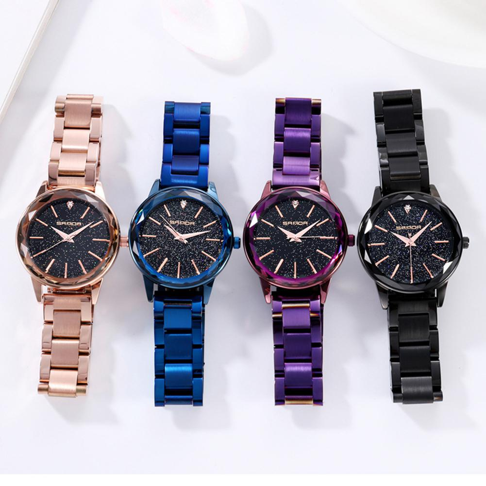 Sanda Starry Sky Quartz Watch Men Women Unisex Fashion Watches With Stylish Steel Chain Watchband Casual OL Wristwatch San0