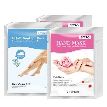 3pairs Exfoliating Foot Mask Feet Peeling Socks for Pedicure Dead Skin+3pairs Hand Mask Moisturising Whitening Skin Care Skin Care