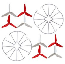 EBOYU 3-blade 3-leaf Upgrade Propellers & Prop Guards for Syma X5C-1 X5A X5C X5S X5SC X5W X5SW JJRC H5C Skytech M68R Quadcopter syma x5c rc 3 7v 500mah lipo battery 5pcs and charger for syma x5 x5sc x5sc h5c x5a helicopter drone part wholesale