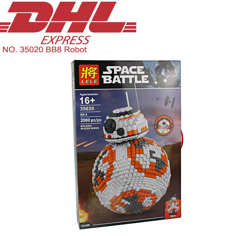 2069Pcs Lele MOC Star Wars Ultimate Collectors BB8 Robot Model Building Kits Blocks Bricks Hot Toy For Children Compatible Gift