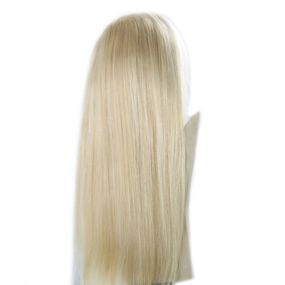 Full Shine Brazilian Human Hair Yellow Blonde Color 613 Lace Front Wig with Baby Hair 150