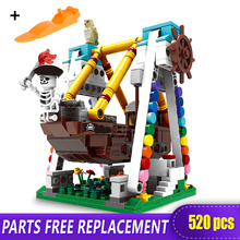 520pcs Pirate Ship Paradise Building Blocks for Kids Buildling Boat Brick Block compatible with LOGO Xingbao 01109