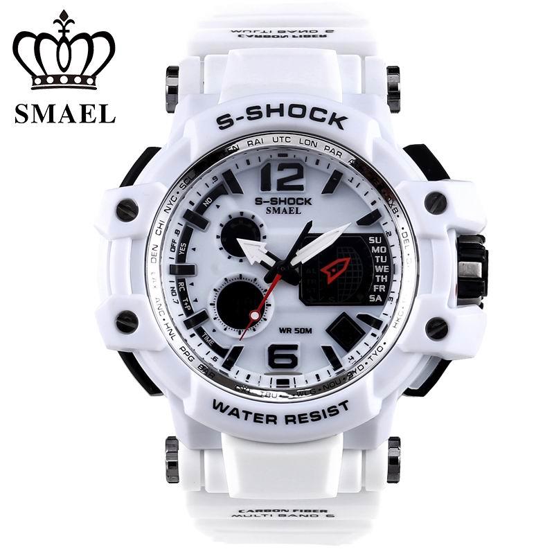 Mens Watches SMAEL Luxury Brand Quartz Clock Digital LED Watch Army Military Sport Watch Male Chronograph