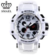 Mens Relojes SMAEL Marca de Lujo Reloj de Cuarzo LED Digital Reloj Militar Del Ejército Reloj Deportivo Masculino Cronógrafo relogio masculino,