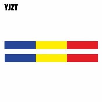 YJZT 2X 16.5CM*1.4CM Helmet Car Sticker ANDORRA Flag Car Body Reflective Decal Accessories 6-1874 image