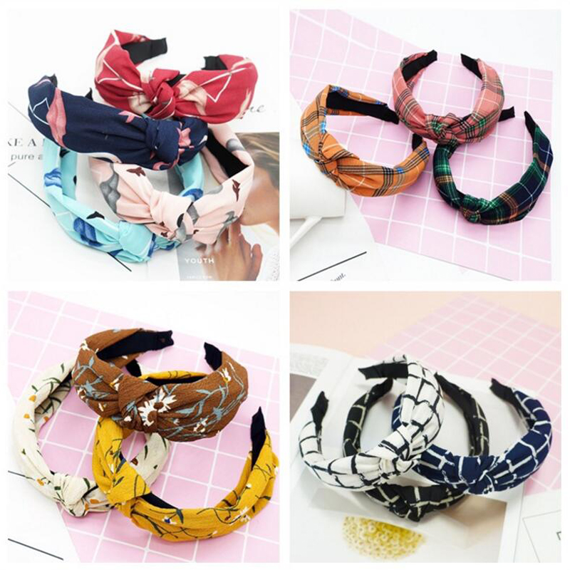 2018 Elastic Hairbands Lady Hair Accessories No Slip Stay In Head Knotted Band Women Wide Stretch Headband Girls   Headwear