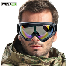 WOSAWE UV Protection Sports Ski Snowboard Skate Goggles Glasses Outdoor Motorcycle Ski Goggle Glasses Eyewear Lens