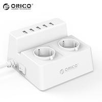 ORICO EU Plug ODC 2A5U charger socket Smart Socket for Home Office Charger Support 5 USB port Multifunctional Outlet