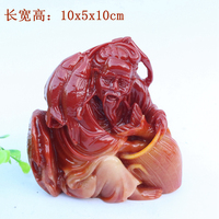 Shoushan stone carving jade lotus stone desktop Home Furnishing fish Weng yielding character ornaments