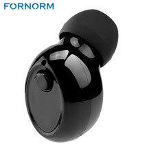 Fornorm磁気モノラル小さな単一のイヤフォン隠し不可視イヤーピースマイクロミニワイヤレスヘッドセットのbluetoothイヤホンiphone