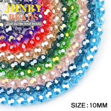 JHNBY Faceted Football Austrian crystal Loose beads ball 10mm 20pcs Roundness rhinestone jewelry making bracelets necklace DIY
