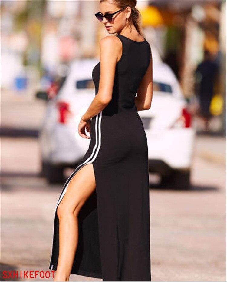 SXHIKEFOOT!!!  Explosion models Women Stripes Splits Vests Dresses Dresses