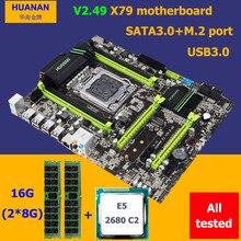 Скидка mobo HUANAN Чжи X79 материнской платы с M.2 слот Процессор Intel Xeon E5 2680 2,7 ГГц Оперативная память 16G (2*8G) 1600 регистровая и ecc-память 2 года гарантии