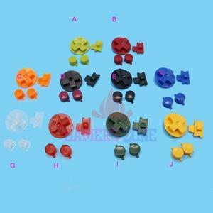 Image 1 - 10 conjuntos de Multi Cor Botões para Gameboy Clássico GB Teclados para GBO DMG DIY para Gameboy Ab botões D pad