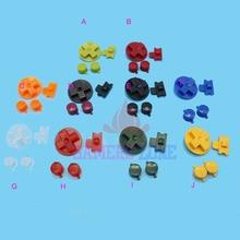 10 setsหลายสีปุ่มสำหรับเกมบอยคลาสสิกGB K EypadsสำหรับGBOฮึกเหิมDIYสำหรับเกมบอยAbปุ่มD pad