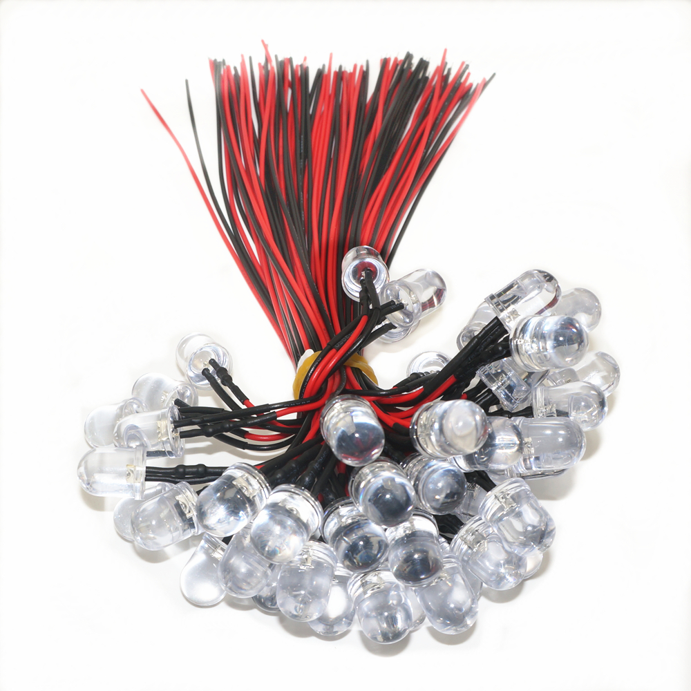 Led Lighting High Brightness Dc5v/dc12v 3mm/5mm/10mm Red/green/blue/yellow/white Led Indicator Lights Beads Prewired Emitting Diodes Diy