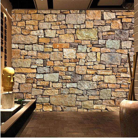 murales de pared 3d naturaleza wallpaper brick wall for Living Room Resturant Room Office Backside Wall Decor Stone Wall paper large painting home decor relief green flowers hotel background modern mural for living room murales de pared 3d wallpaper