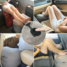 FAROOT Inflatable Foot Rest Travel Air Pillow Cushion Office Home Leg Footrest Relax цена
