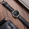 Dom brand watch casual waterproof vintage table ultra-thin male table fashion genuine leather strap table male watches M259L