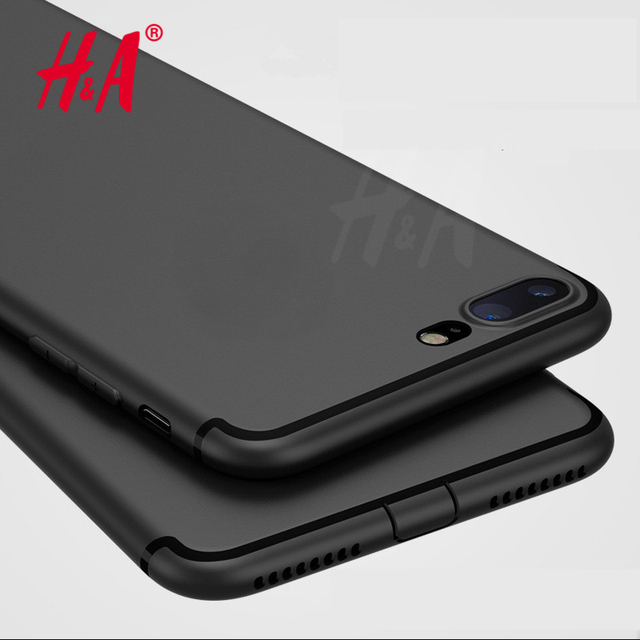 H&A Luxury Back Matte Soft Silicon Case for iPhone 6 Cases 6s Plus 5 5s SE 7 7 Case Full Cover For iPhone 7 7 Plus Phone Cases