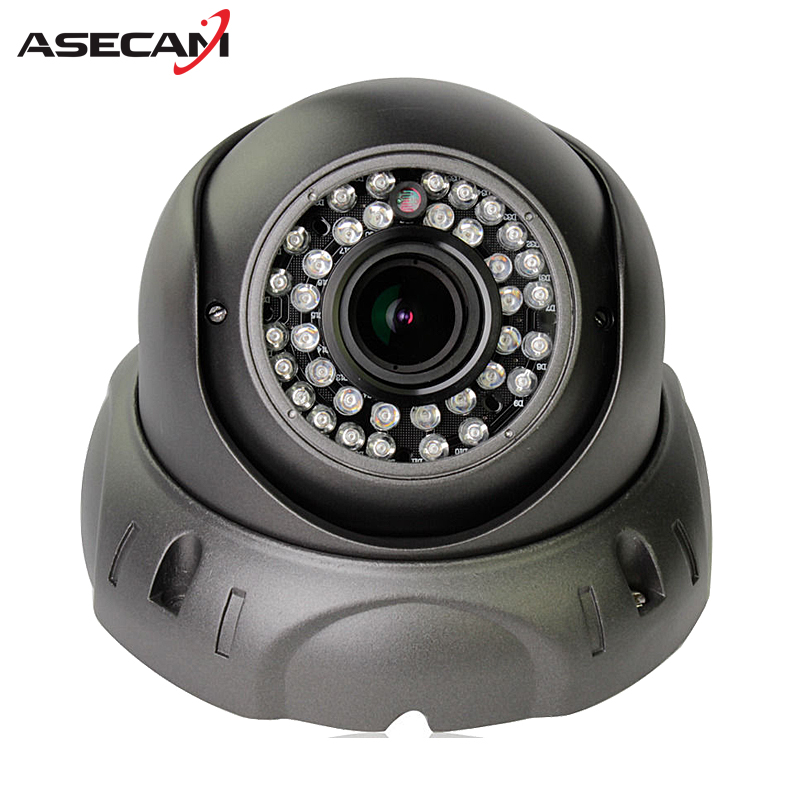 ASECAMZoom Varifocal 2.8~12mm Lens HD IP Camera 1080P H.265 POE Onvif p2p Indoor Waterproof Dome 42led Security Gray White ipcam 5mp ip bullet camera h 264 h 265 compression 3 6mm fixed hd lens support poe p2p onvif