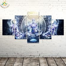Spiritual Abstract Artwork Geometry Picture And Poster Canvas Painting Modern Wall Art Print Pop Art Wall Pictures Living Room(China)