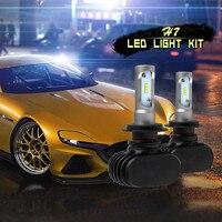 2PCS S1 LED Headlight Kit Light Bulbs 6000K H7 50W 4000LM 12V Car Lamps CSP Lamps