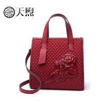 PMSIX 2020 New women bag fashion Rose embossed canvas handbags tote women famous brand crossbody bags for women