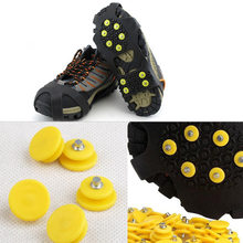 Drop Shipping 1Pcs Anti-slip Snow Ice Climbing Crampon Spikes Grips Durable Shoes Cover Cleats Overshoes(China)